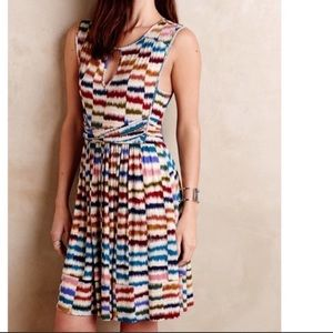 {Anthropologie} Maeve Rainbow Striped A-Line Dress
